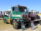 A rare Mack cherry picker at the annual Heritage truck Association of Australia show at Rocklea on the weekend.