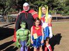 Tiny superheroes at school