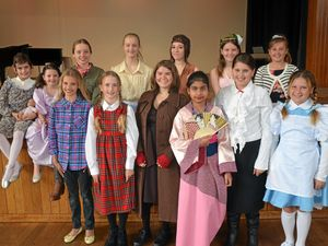 Eisteddfod entrants on stage this week