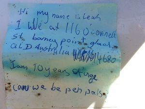 Gladstone woman reunited with 14yo message from her girlhood