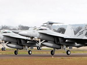 Super Hornets training at Evans Head Weapons Range
