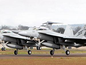 Super Hornets training at Evans Head Weapons Range
