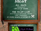 Debbie Parsons from Circle of Sound Entertainment will be holding an All Ages Open Mic Night @The Yacht Club Mooloolaba