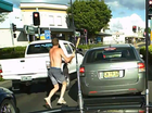 Attack with a baseball bat caught on Dashcam