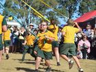 Coolabunia State School students dance around the maypole at the school's 125th anniversary celebration on May 28, 2016.