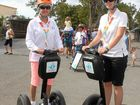 DREAM TEAM: Geri and Dani Simpson promote Capricorn Segways at CQ Mega Lifestyle Expo on the weekend.