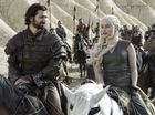 Michiel Huisman and Emilia Clarke in a scene from season six episode six of Game of Thrones.