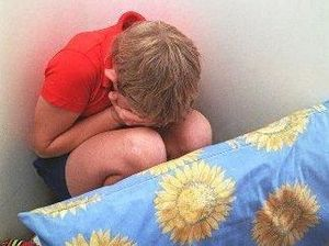 TERRIFIED: Children should not have to cower in their own home.