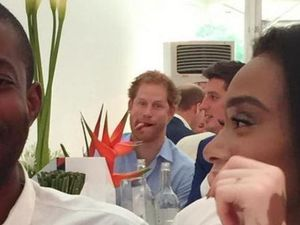 Prince Harry photobombs Next Top Model at polo match