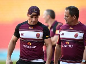 Cooper Cronk at Maroons training camp