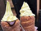 JUST when you thought desserts couldn't get any more over-the-top, a new doughy, creamy, sugar-laden creation has been born... the doughnut cone.