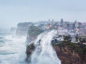 Houses, flats damaged by seas up to 12m around NSW