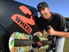 2WHEELBOARD: Inventor Demetrias Rejtano.Photo: Mike Knott / NewsMail