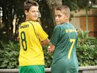 FUTSAL DREAM: Drew Gordon and Aidan Steffan.