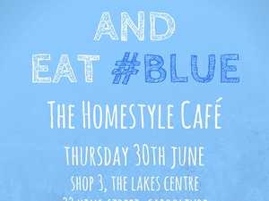 The Homestyle Café will be hosting a Keep Calm and Eat #Blue day to help raise funds and awareness for the depression and anxiety organisation Beyond Blue.