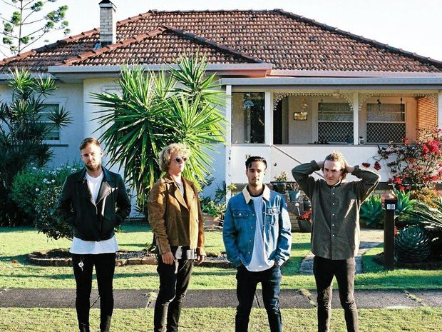 LOCALS: Byron Bay band PLTS are Kit Bray, Byron Carney, Harry Deacon and Eli Ayo