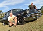 1957 Chevrolet Bel Air - (L) owner Peter O'Connell with Matthew Cicero from Matts.Photo: Alistair Brightman / Fraser Coast Chronicle
