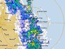 Torrential rain on the Sunshine Coast