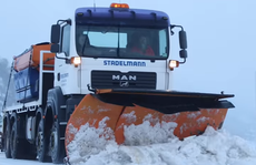 A truck being used to clear snow away in Perisher Valley.