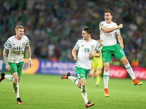 Late goal puts Irish through at Euros