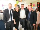 (From left) Andrew and Ros Whittaker, Wippells Autos Dealer Principal David Russell and Hospice Chairman Graham Barron OAM at last year's Toowoomba Hospice Charity Race Day.