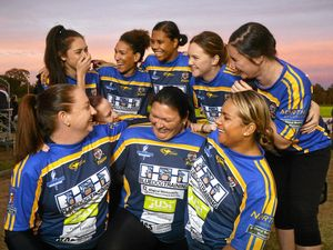 Women's footballers with Tigers spirit