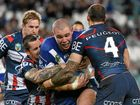 The Broncos will be wary of a big Bulldogs pack containing two New South Welshmen still smarting from the Blues' Origin when they clash.