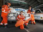 VOLUNTEER recruits at Coffs Harbour's SES unit were among the first on-scene during this month's wild weather events.