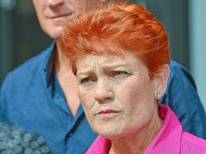 PHOTOS: Star-struck Gladstone man seeks selfie with Pauline Hanson