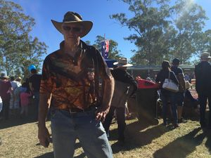 VIDEO: Inside Mt Larcom Show's chain saw man den