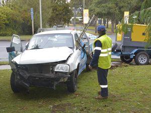 PHOTOS: Crash closes one lane of busy Toowoomba street