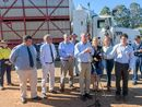 COTERIE of Federal, State and local politicians touch down in Grafton to launch $10 million upgrade to NSW truck wash out facilities.
