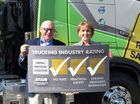 Senator Michaelia Cash with  Transafe WA Chair Steve Post at Trucking Australia.