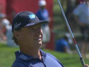 Ernie Els dunks for eagle