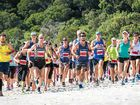 Steve Moneghetti lived up to his headline billing at the Great Whitehaven Beach Run 10km event on Sunday.