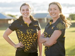 STARS ON CAMPUS: University of Southern Queensland students Kate Luck and Kaylah Pearce will captain the USQ team at this year's Northern Uni Games.