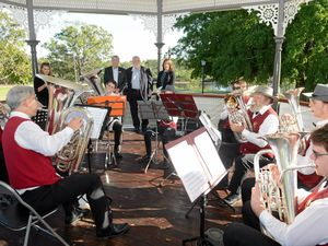 Sounds of brass at bandstand unveiling
