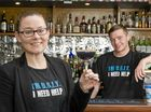 "HERE""S LOOKING AT YOU:  ( From left ) Emma Quade and Sean McMeekin launch UGLY bartender of the year competition at the Mort Estate Hotel. Thursday June 30 , 2016."