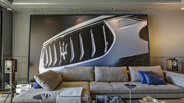 It may cost $5200 a night, but the Maserati suite at Monaco's Hotel de Paris is the ultimate overnighter for the Maserati superfan