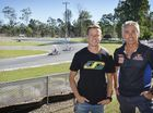 James Courtney and Mick Doohan at the 2016 Australian Kart Championship at Willowbank.