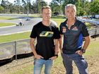 A number of Supercars stars are trackside for round four of the Australian Kart Championship in Ipswich this weekend.