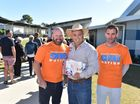 2016 Federal Election - One Nation candidate for Hinkler Damian Huxham with helpers (L) Joe Daley and Michael Robinson at Hervey Bay High School.