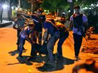 UP to nine gunmen have attacked a restaurant popular with foreigners in the diplomatic quarter of Bangladesh's capital of Dhaka and taken hostages.