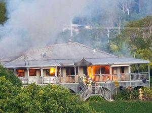 WATCH: Two-storey Queenslander home destroyed in blaze