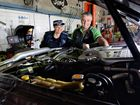 Senior constable Kerrin Sheedy and Powertune 4X4 owner Andrew Monteith preview the 'Under the Bonnet' community workshops.