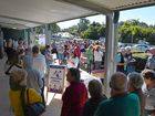 Polling booths across Noosa had queues out the door.