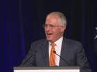 Malcolm Turnbull speaks on election night.