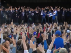Icelandic Team does the Viking Clap