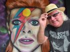 Ian Scorey has commissioned a David Bowie portrait mural on the exterior wall of Nambour's Royal George Hotel.