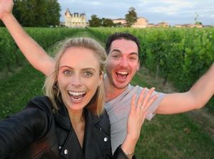 VIDEO: Peter Stefanovic and Sylvia Jeffreys engaged